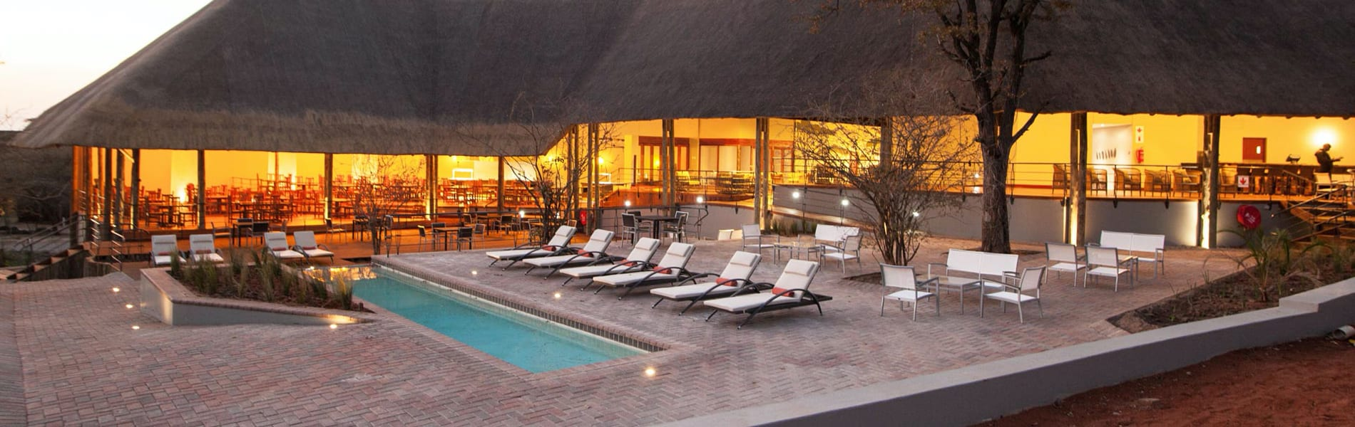 Chobe bush lodge pool area