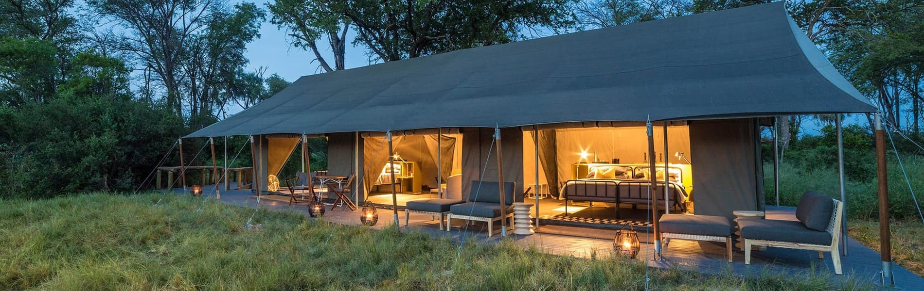 Gomoti Plains Camp family tent