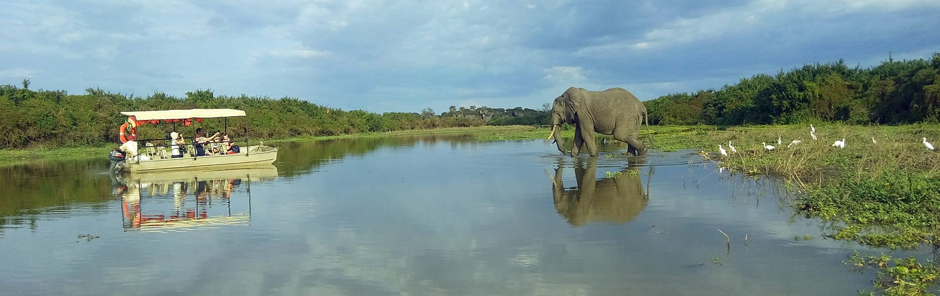 Lake Manze Tented Camp boot safari