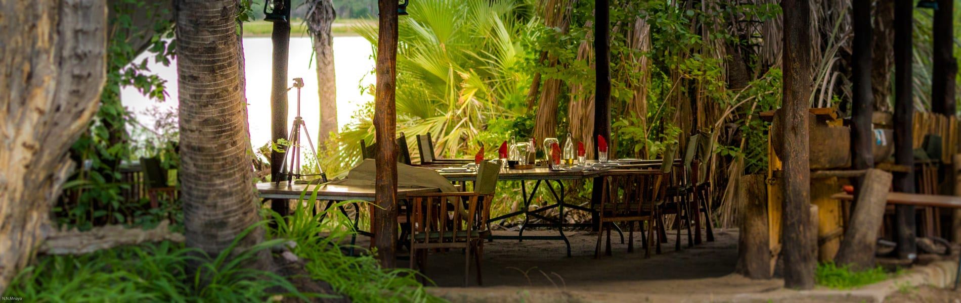 Lake Manze Tented Camp diner
