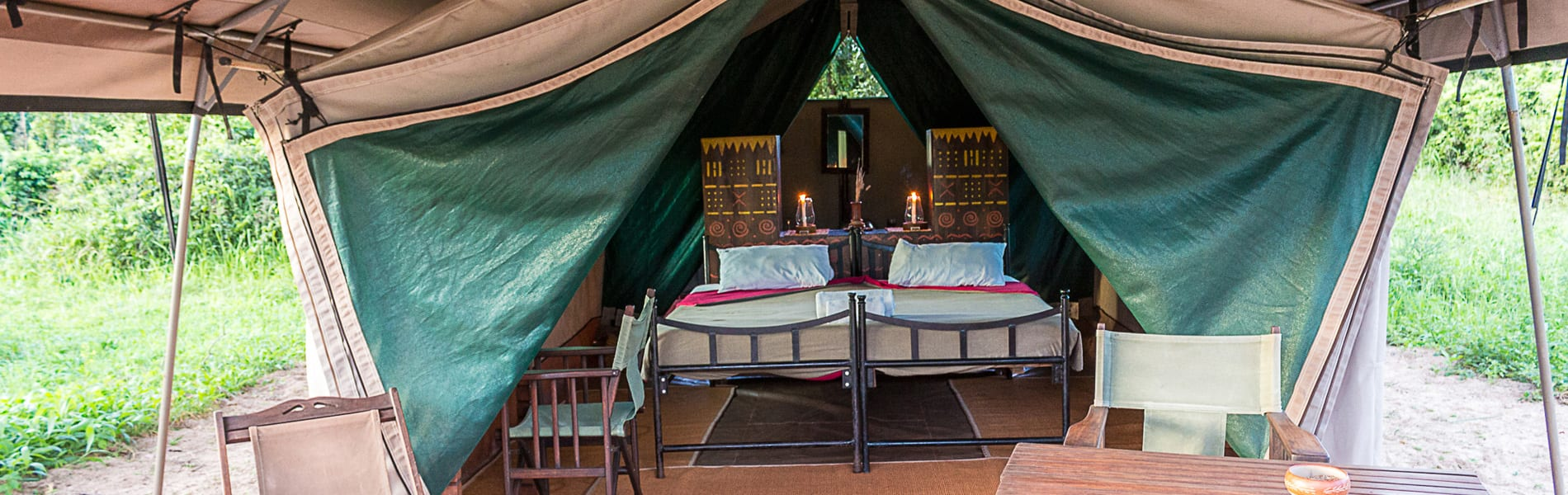Lake Manze Tented Camp tent front