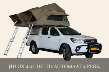 Autohuur Namibie TOYOTA HILUX 4X4 2.4TD – CAMPING 4 pax