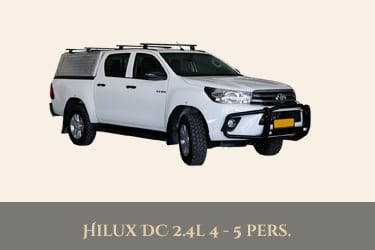 Autohuur Namibie TOYOTA DOUBLE CAB 4X4 2.4TD