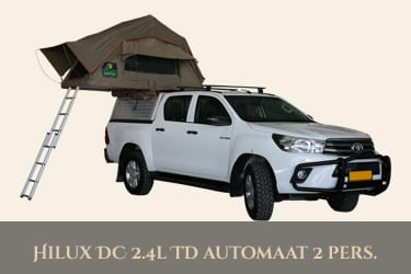 Autohuur Namibie TOYOTA HILUX 4X4 2.4TD – CAMPING 2 pax