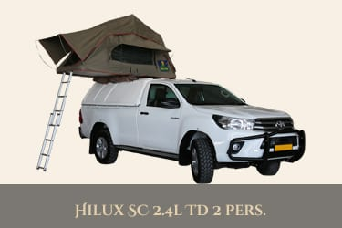 Autohuur Namibie TOYOTA SINGLE CAB 4X4 2.4TD – CAMPING