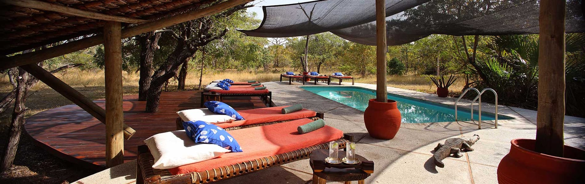 Siwandu Camp pool area